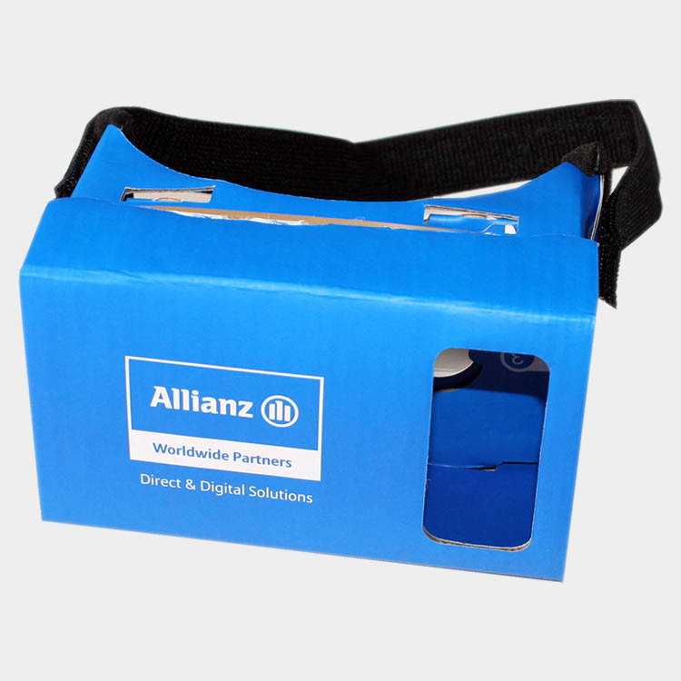 Gafas de realidad virtual de cartón de Allianz